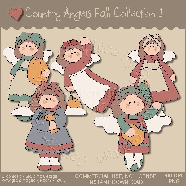 Country Angels Fall Graphics Collection Vol. 1