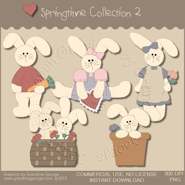 Country Springtime Graphics Collection Vol. 2