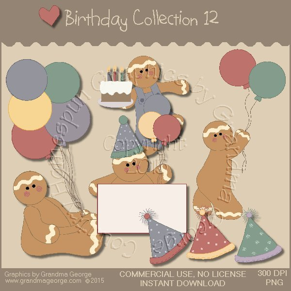 Birthday Graphics Collection Vol. 12