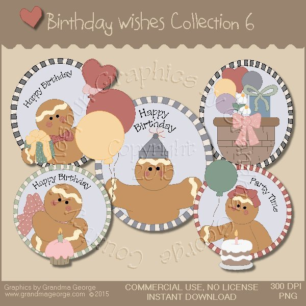 Birthday Wishes Country Graphics Collection Vol. 6