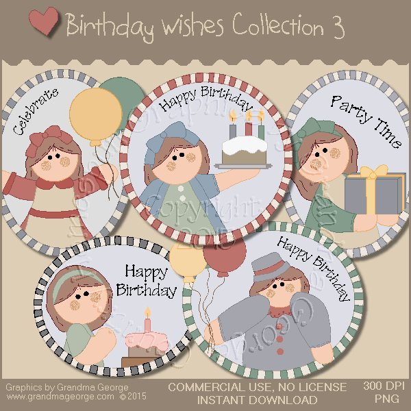 Birthday Wishes Country Graphics Collection Vol. 3