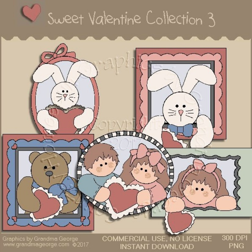 Sweet Valentine Country Graphics Collection Vol. 3