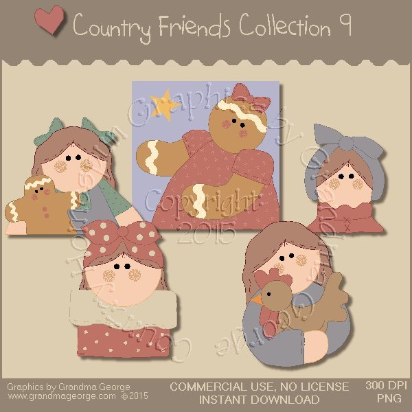 Country Friends Graphics Collection Vol. 9