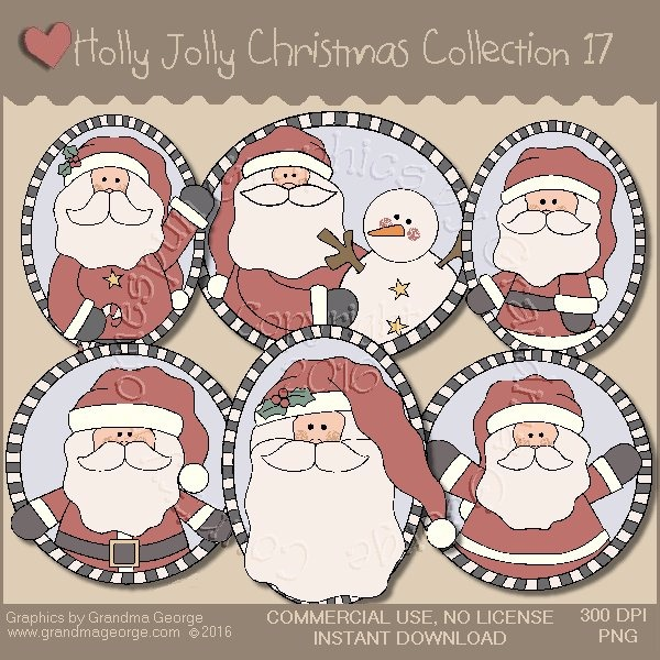 Holly Jolly Christmas Country Graphics Collection Vol. 17