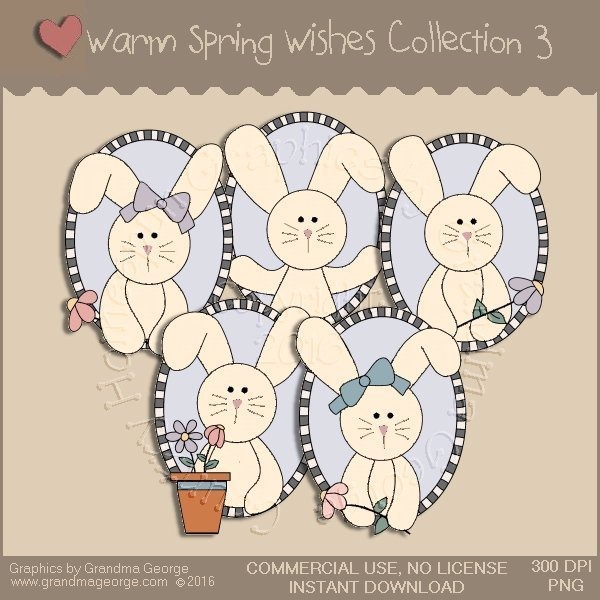 Warm Spring Wishes Country Graphics Collection Vol. 3
