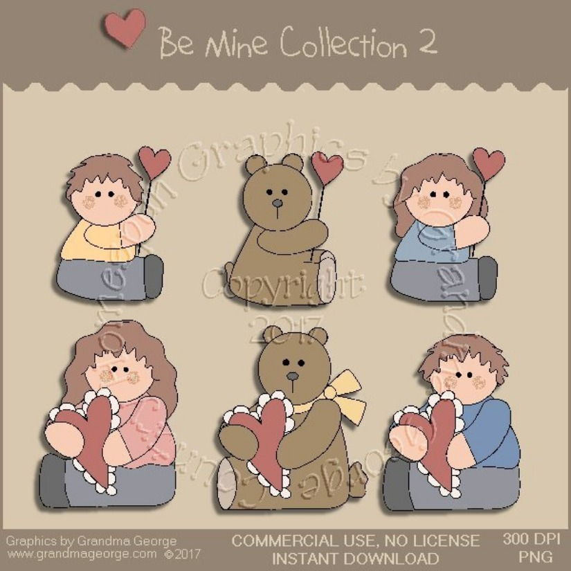 Be Mine Valentine Country Graphics Collection Vol. 2
