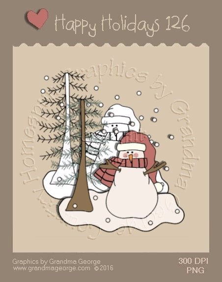 Happy Holidays Christmas Single Country Graphic 126