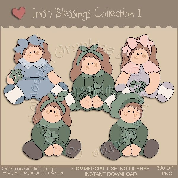 St. Patrick's Day Irish Blessings Country Graphics Collection Vol. 1