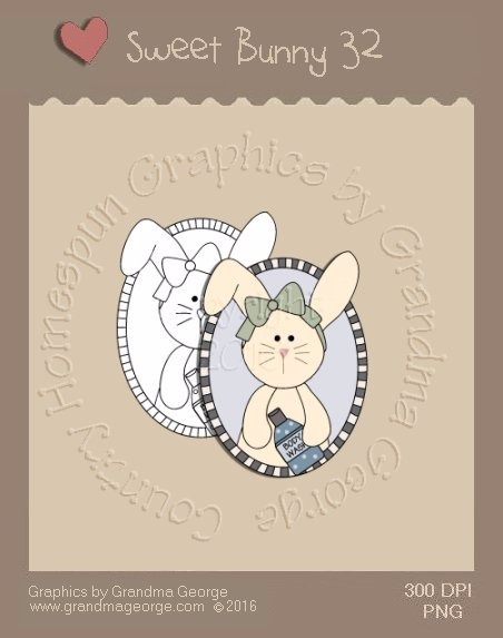 Sweet Bunny Single Country Graphic 32