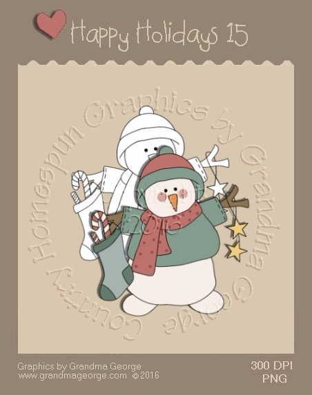 Happy Holidays Christmas Single Country Graphic 15