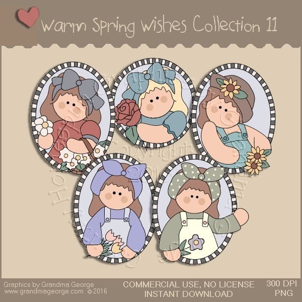 Warm Spring Wishes Country Graphics Collection Vol. 11