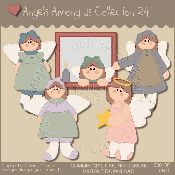 Angels Among Us Graphics Collection Vol. 24