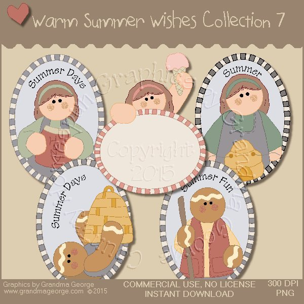 Warm Summer Wishes Graphics Collection Vol. 7