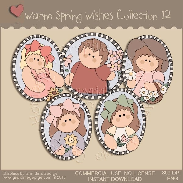 Warm Spring Wishes Country Graphics Collection Vol. 12