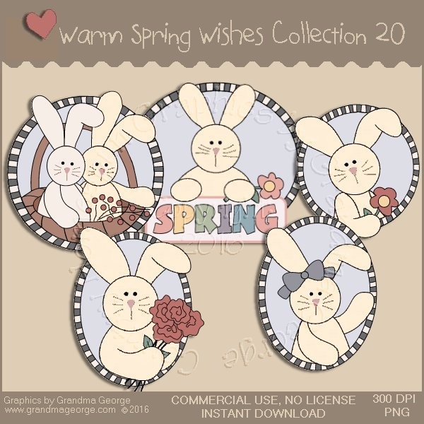 Warm Spring Wishes Country Graphics Collection Vol. 20