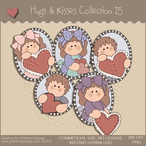 Hugs & Kisses Valentine Country Graphics Collection Vol. 15