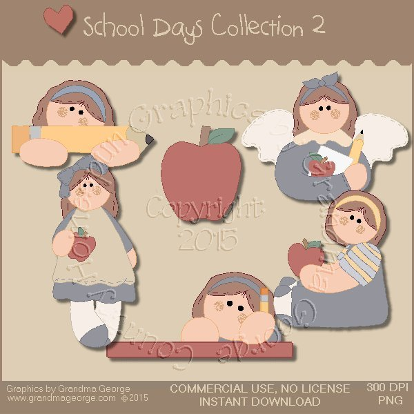 School Days Country Graphics Collection Vol. 2