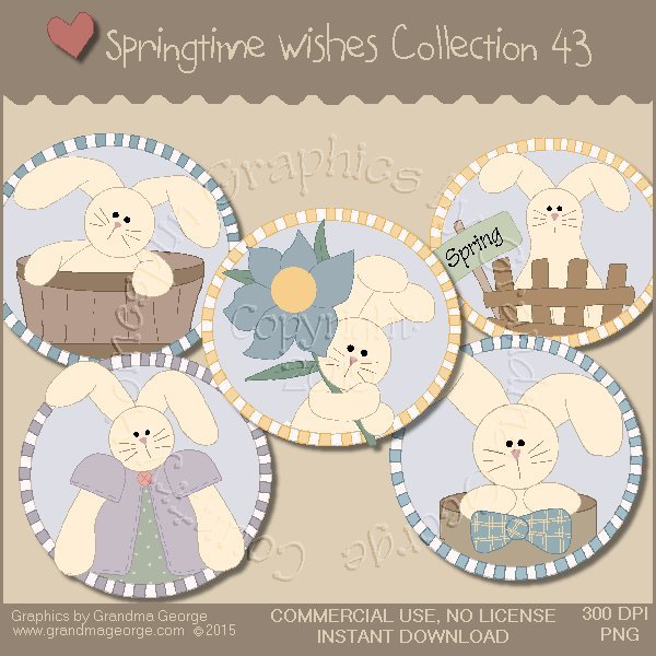 Country Springtime Wishes Graphics Collection Vol. 43