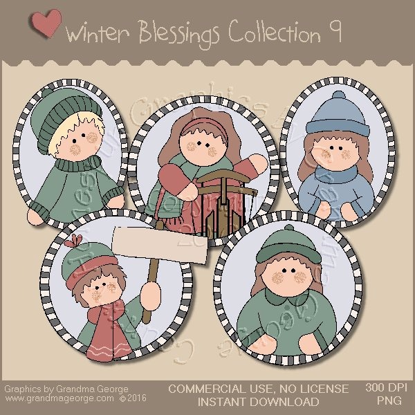 Winter Blessings Country Graphics Collection Vol. 9