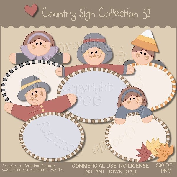 Country Sign Graphics Collection Vol. 31