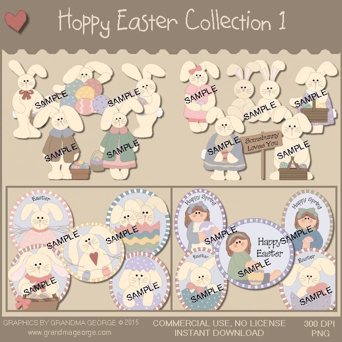 Hoppy Easter Graphics Collection Vol. 1