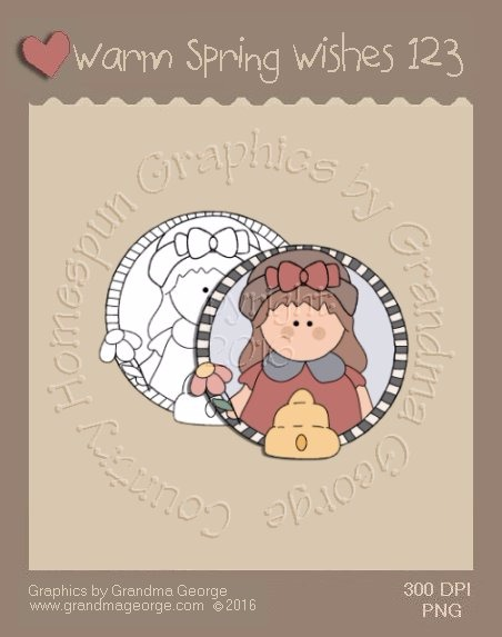 Warm Spring Wishes Single Country Graphic 123