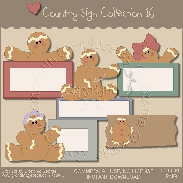 Country Sign Graphics Collection Vol. 16