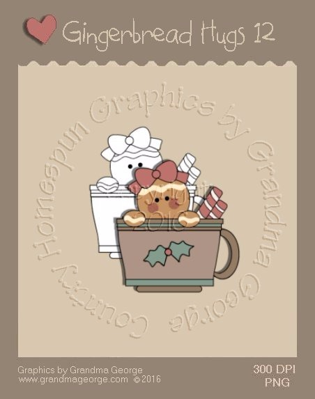 Gingerbread Hugs Single Country Graphic 12