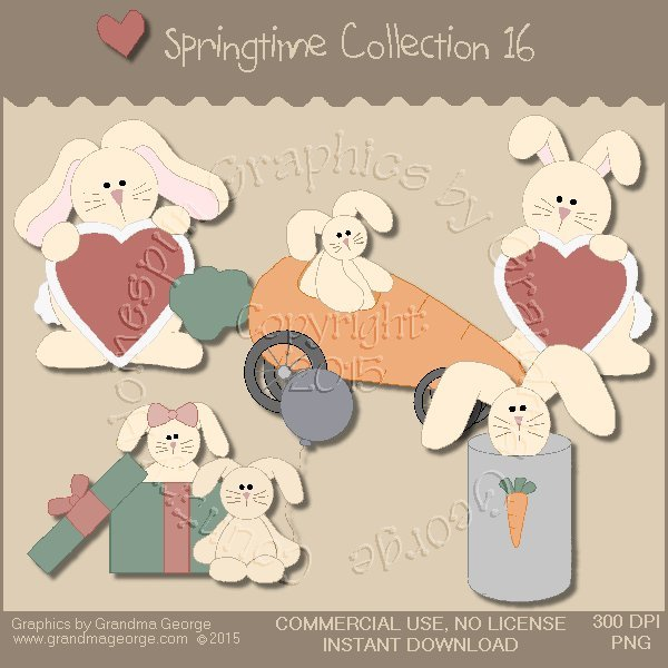 Country Springtime Graphics Collection Vol. 16
