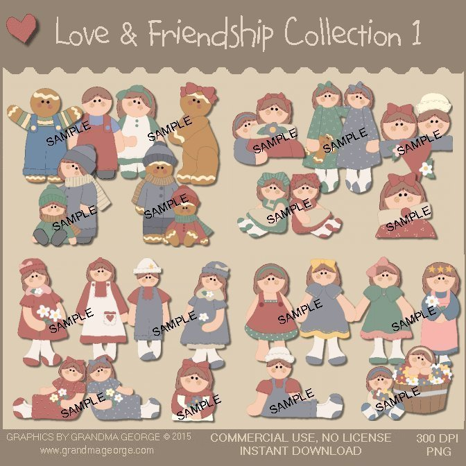 Love & Friendship Country Graphics Collection Vol. 1