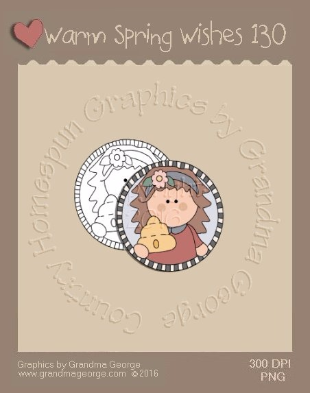 Warm Spring Wishes Single Country Graphic 130