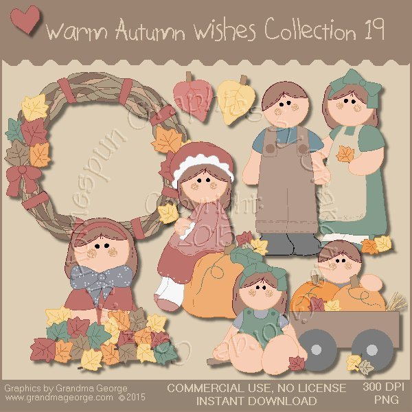 Warm Autumn Wishes Graphics Collection Vol. 19