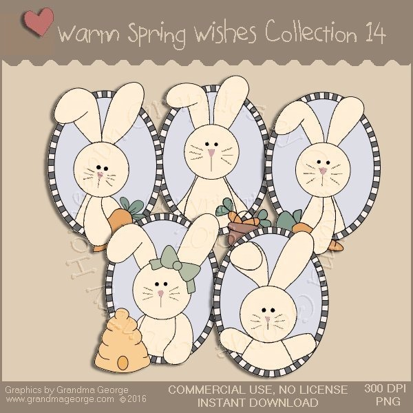 Warm Spring Wishes Country Graphics Collection Vol. 14