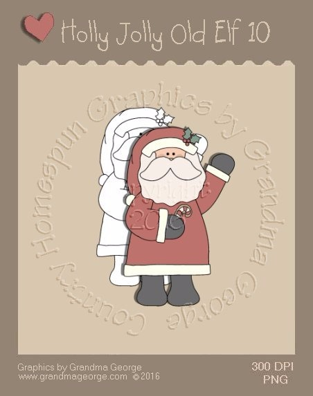 Holly Jolly Old Elf Single Country Graphic 10