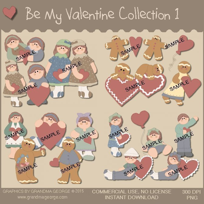 Be My Valentine Country Graphics Collection Vol. 1
