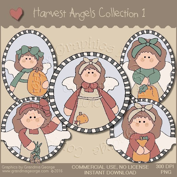 Harvest Angels Country Graphics Collection Vol. 1