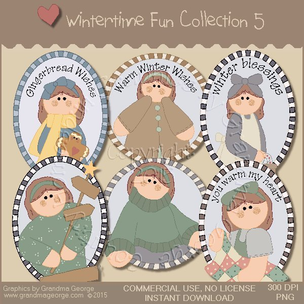 Wintertime Fun Graphics Collection Vol. 5