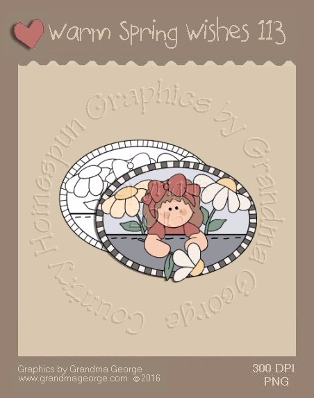 Warm Spring Wishes Single Country Graphic 113