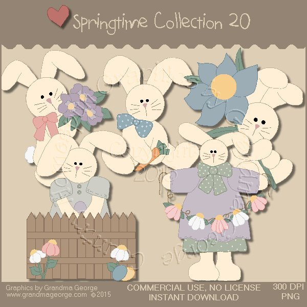 Country Springtime Graphics Collection Vol. 20