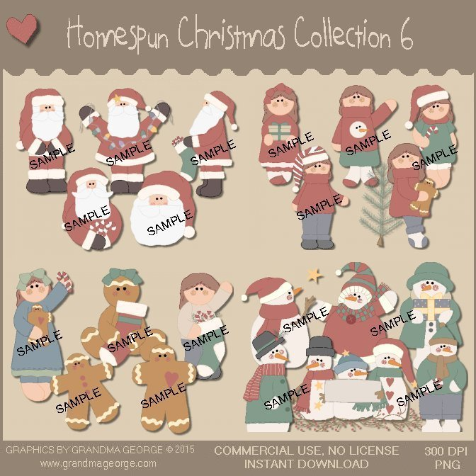 Homespun Christmas Collection Vol. 6