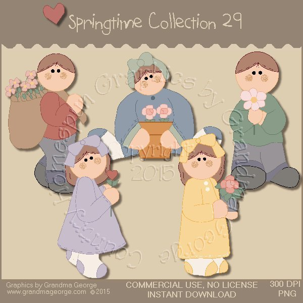 Country Springtime Graphics Collection Vol. 29