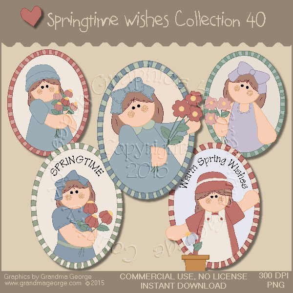 Country Springtime Wishes Graphics Collection Vol. 40
