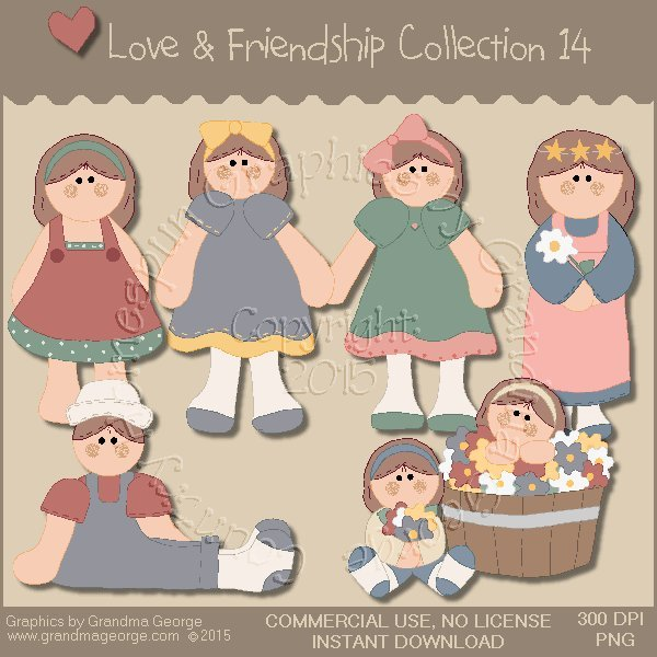 Love & Friendship Graphics Collection Vol. 14