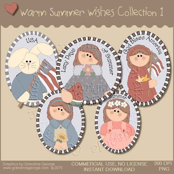 Warm Summer Wishes Graphics Collection Vol. 1