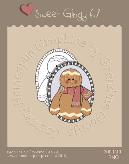 Sweet Gingy Single Country Graphic 67