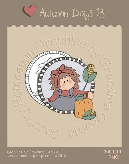 Autumn Days Single Country Graphic 13