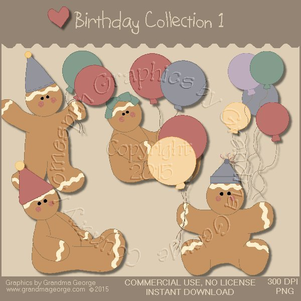 Birthday Graphics Collection Vol. 1