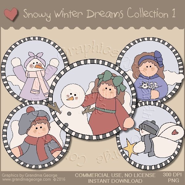 Snowy Winter Dreams Country Graphics Collection Vol. 1