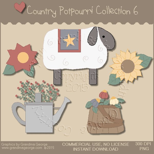 Country Potpourri Graphics Collection Vol. 6