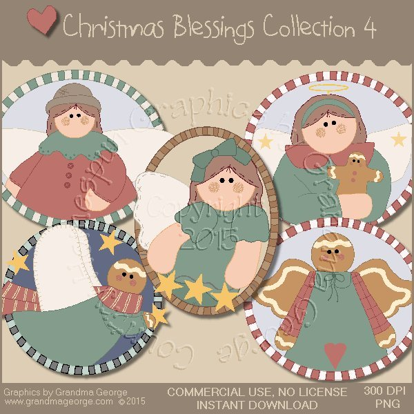 Christmas Blessings Graphics Collection Vol. 4
